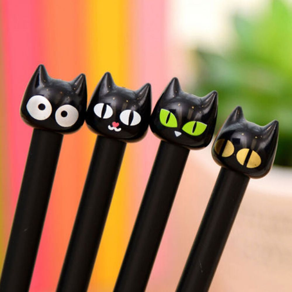 4XBlack Cat Gel Pen Kawaii Stationery CreativeGift School Supplies 0.5mm New | eBay