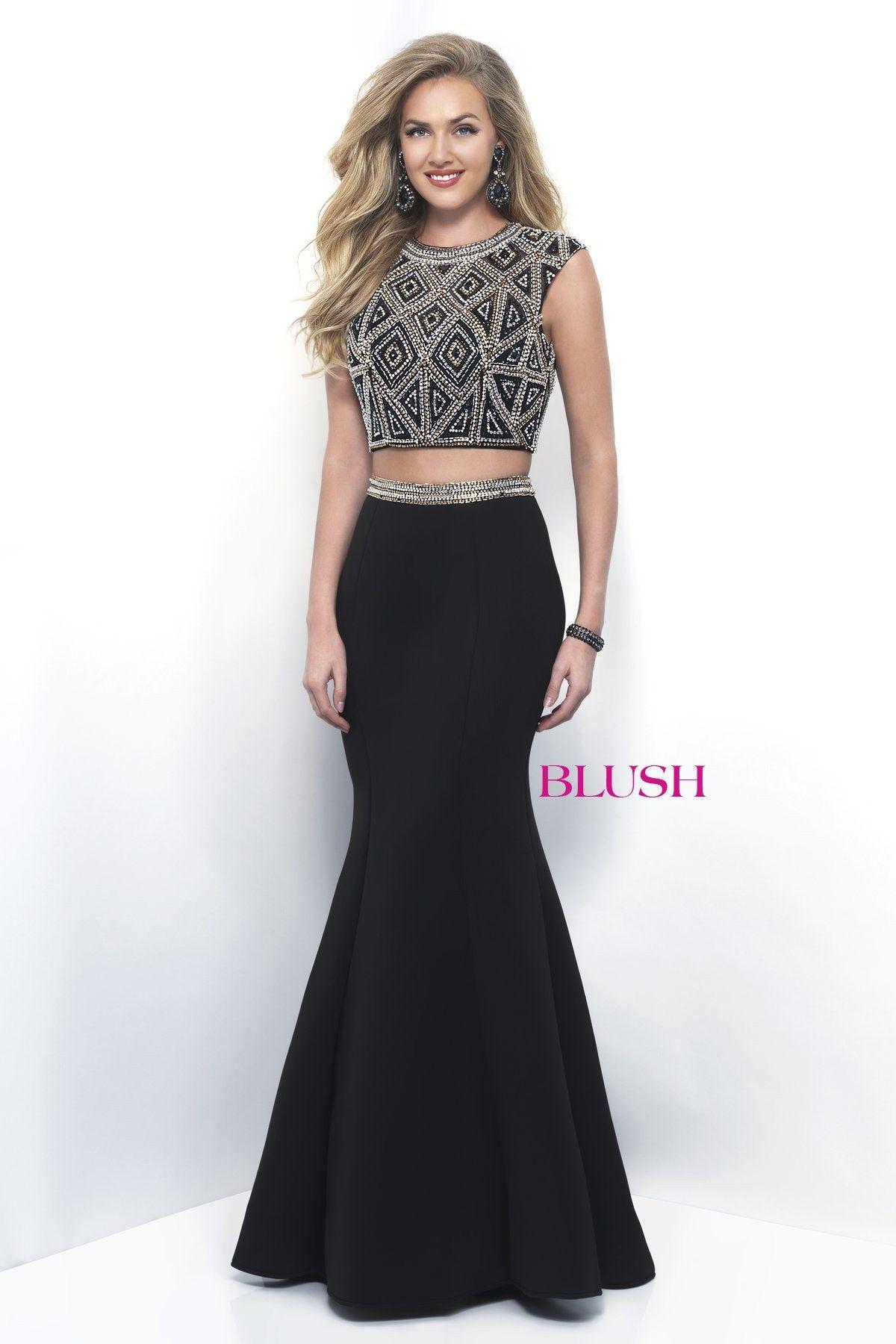 Blush prom black twopiece prom dress gimme a reason