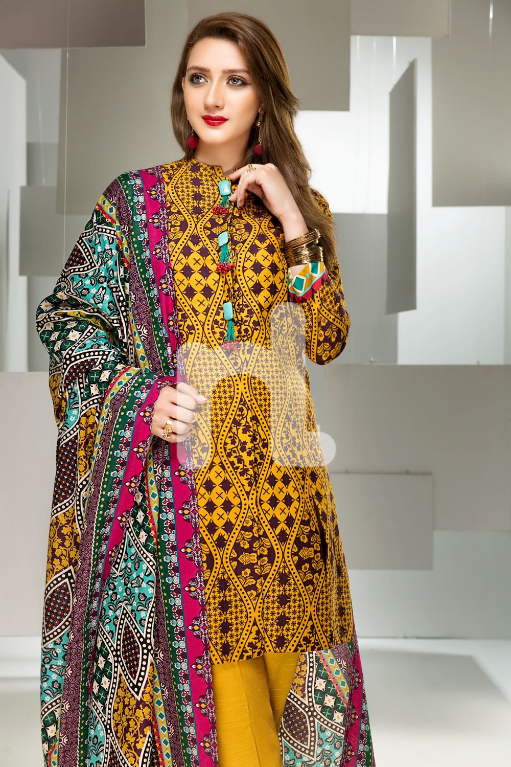3591058a415 Unstitched 3 Piece Pakistani khaddar Dress On Sale To Buy Online By nishat  linen Winter Collection 2018 At A Discount Price.