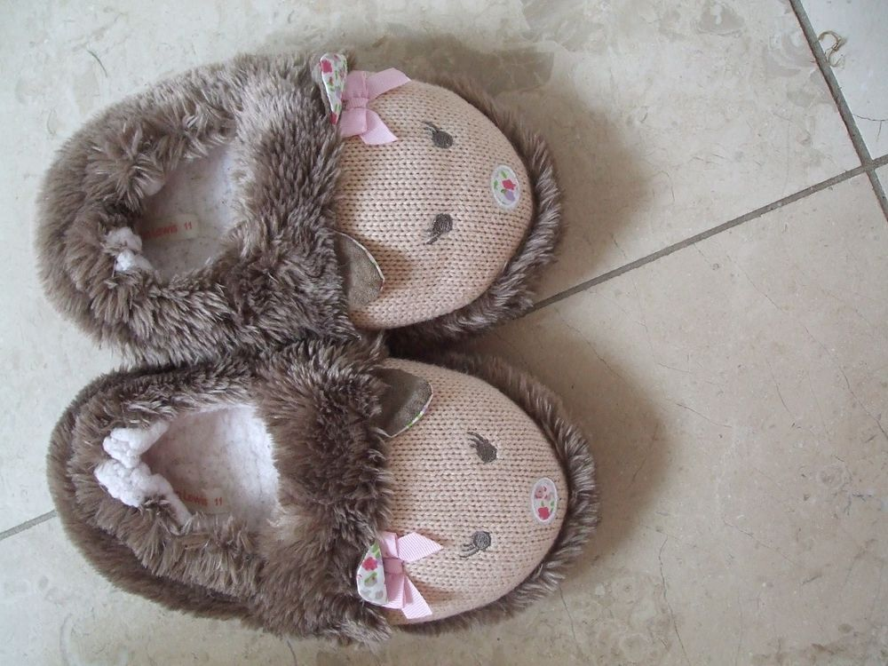 0770bdf23 Girls Cute Hedgehog Slippers size 11 | Hedgehog Clothing & Bags ...
