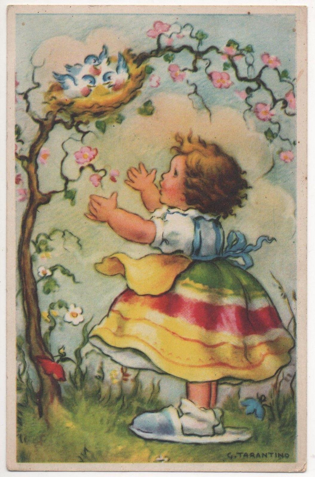 Cpa Carte postale ancienne Dessin d'enfants Tarantino | eBay