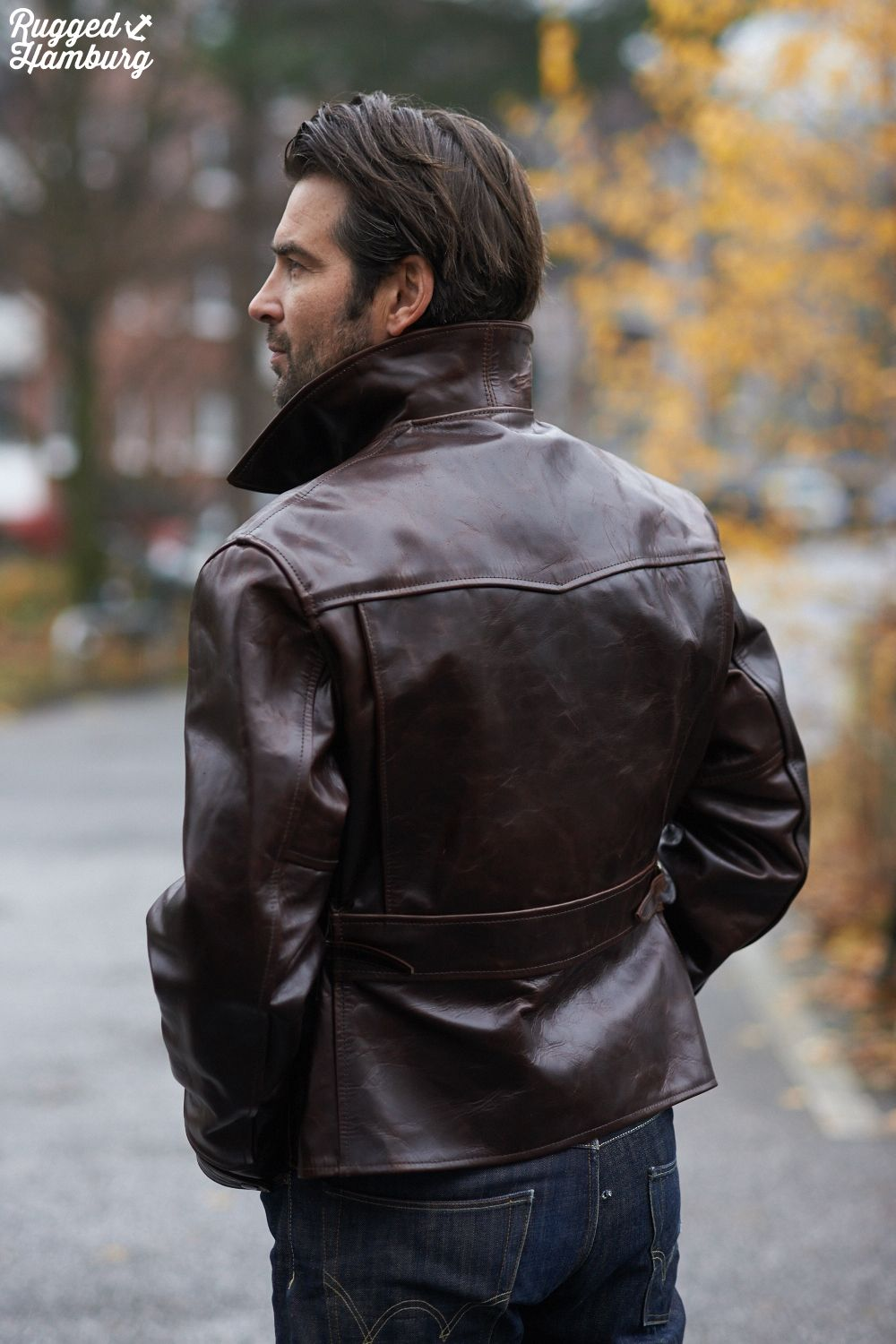 Half leather jackets