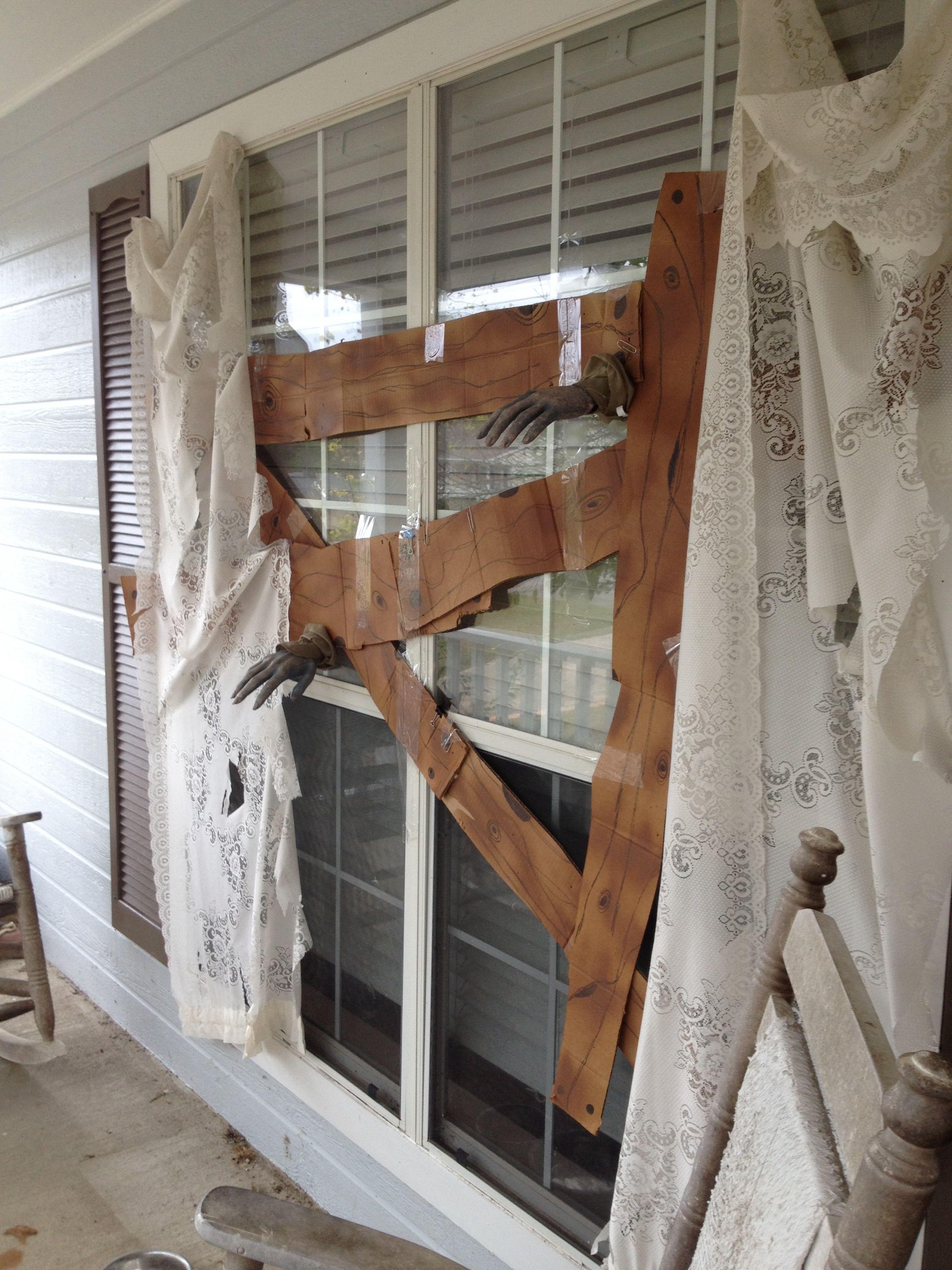 Window cover up ideas  creative boardedup window outdoor halloween decoration uploaded to