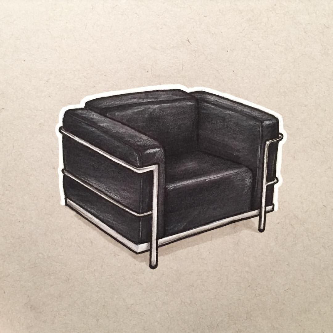 A Month of Chairs (8/30) LC2 Lounge Chair by Le Corbusier Have any ...