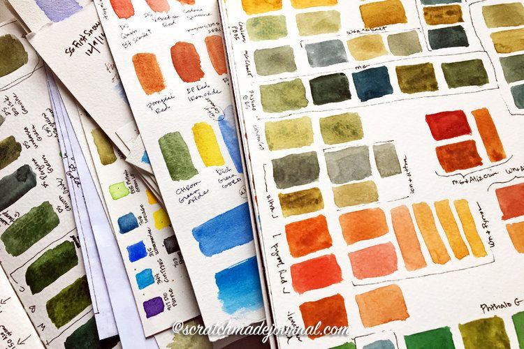 Keeping A Designated Mixing Sketchbook Malen Und Zeichnen