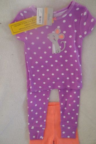Carter S Baby Girl 3 Piece Set Size 12 Months Purple Polk Dots