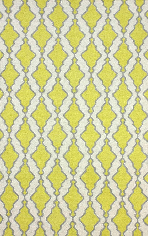 Rugs USA Yellow Savanna Flatwoven Trellis rug