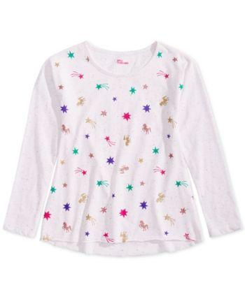 ec724ac753809 Epic Threads Big Girls Long-Sleeve Printed T-Shirt, Created for Macy's -