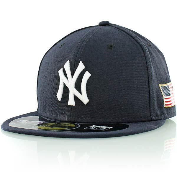 new era MLB AUTHENTIC 59FIFTY US FLAG NEW YORK YANKEES navy ... f6da2ce153b