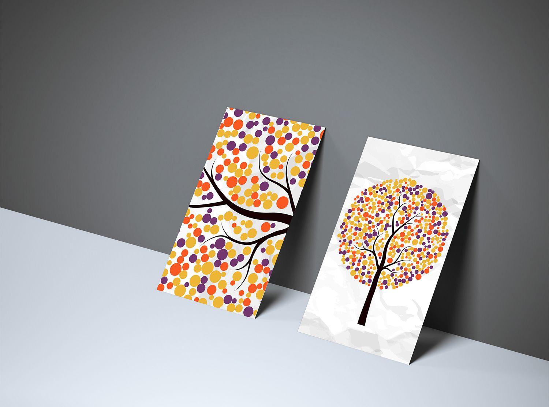 Free Textured Front Back Business Card Mockup-1 | Mockup ...