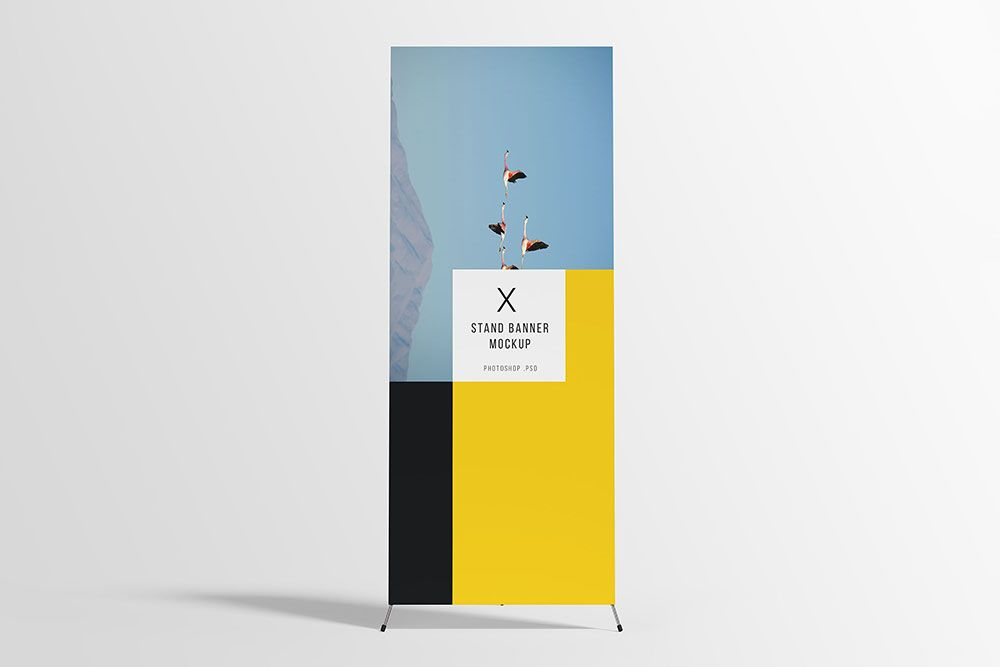 Free Download X Stand Banner Mockup In Psd Banner Mockup Psd Standing Banner Design Pull Up Banner Design Banner Design Layout