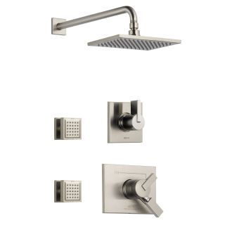 Photo of Delta DSS-Vero-1702SS Brilliance Stainless Monitor 17 Series Dual Function Pressure Balanced Shower System with Integrated Volume Control, Shower Head, and 2 Body Sprays – Includes Rough-In Valves