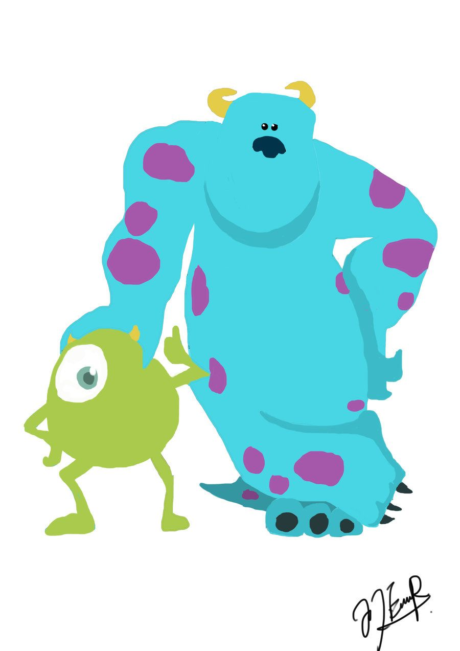 Wallpaper iphone monster - Monsters Inc Mike And Sully By Jo Tyea On Deviantart