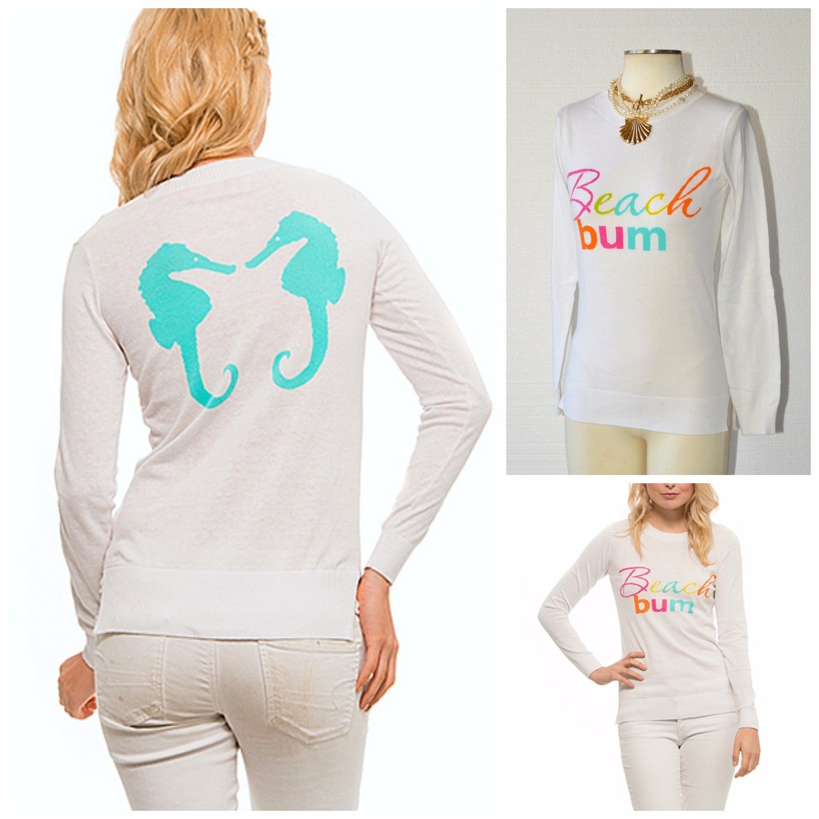 MACBETH COLLECTION The ICONIC Beach Bum SEAHORSE Summer Weight ...