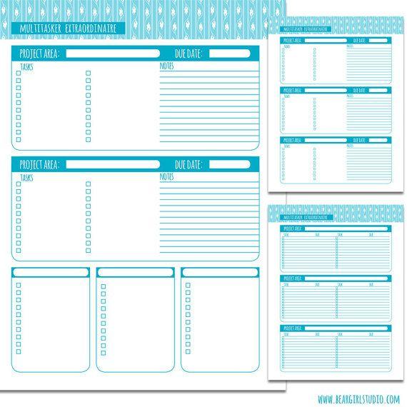 multitasker printable project planner pages beargirlstories 2 00