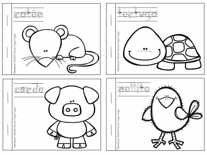 Animales Domesticos Libros De Animales Animalitos Para Colorear