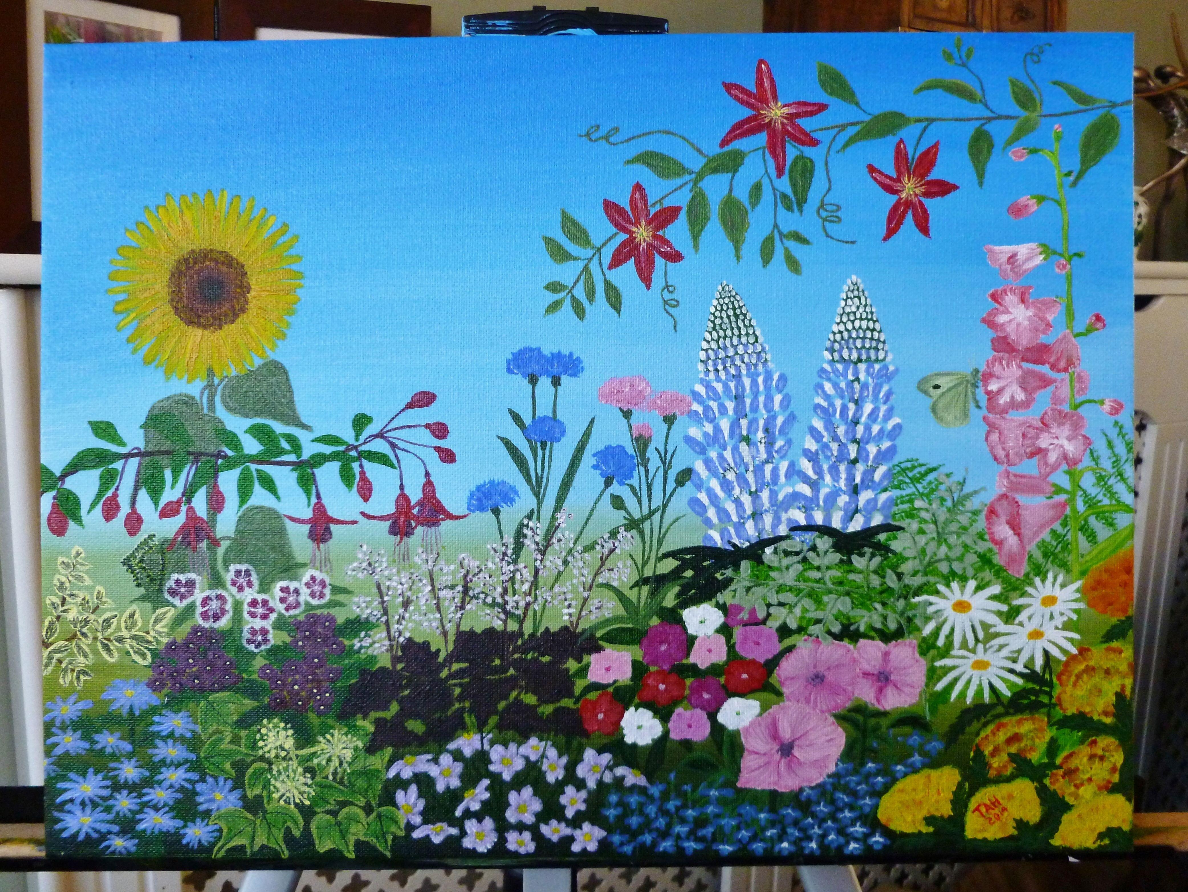 Trudie Headford Sunflower Garden Pop Art Art Sunflower Garden
