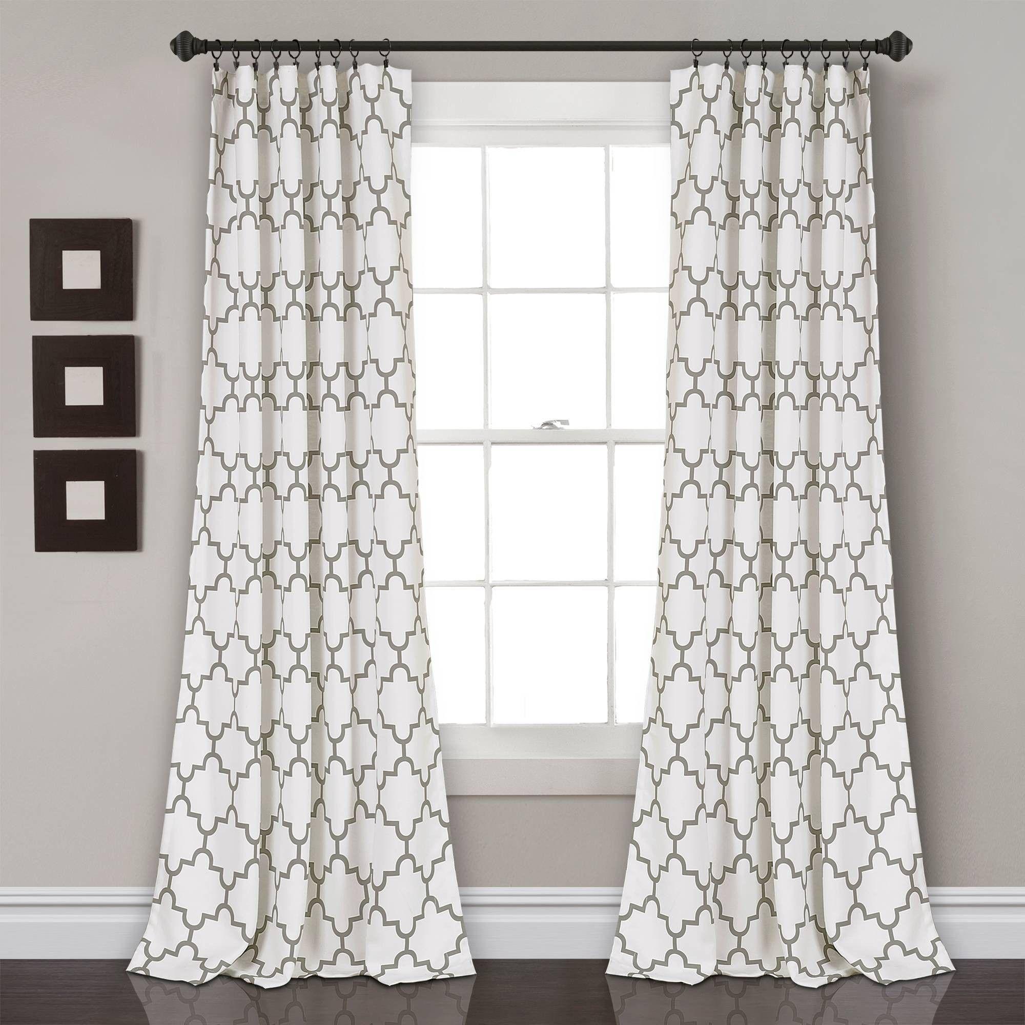Set Of 2 84 X52 Bellagio Room Darkening Window Curtain Panels Gray Lush Décor In 2020 Living Room Decor Curtains Panel Curtains Curtains Living Room