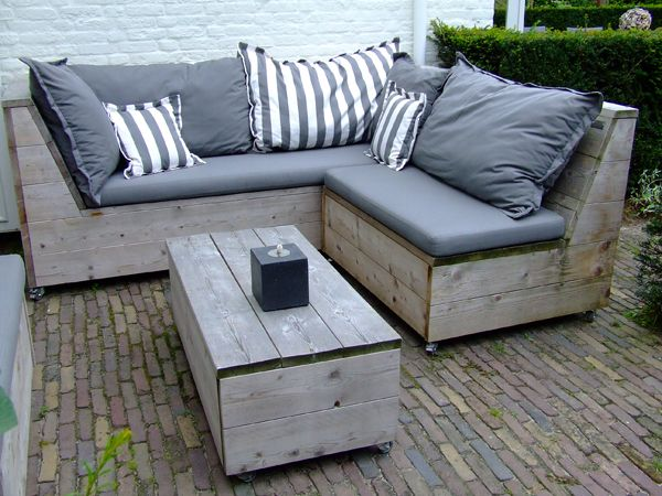 Loungebank losse elementen jeroen hoek id es pinterest for Diseno de muebles de jardin al aire libre