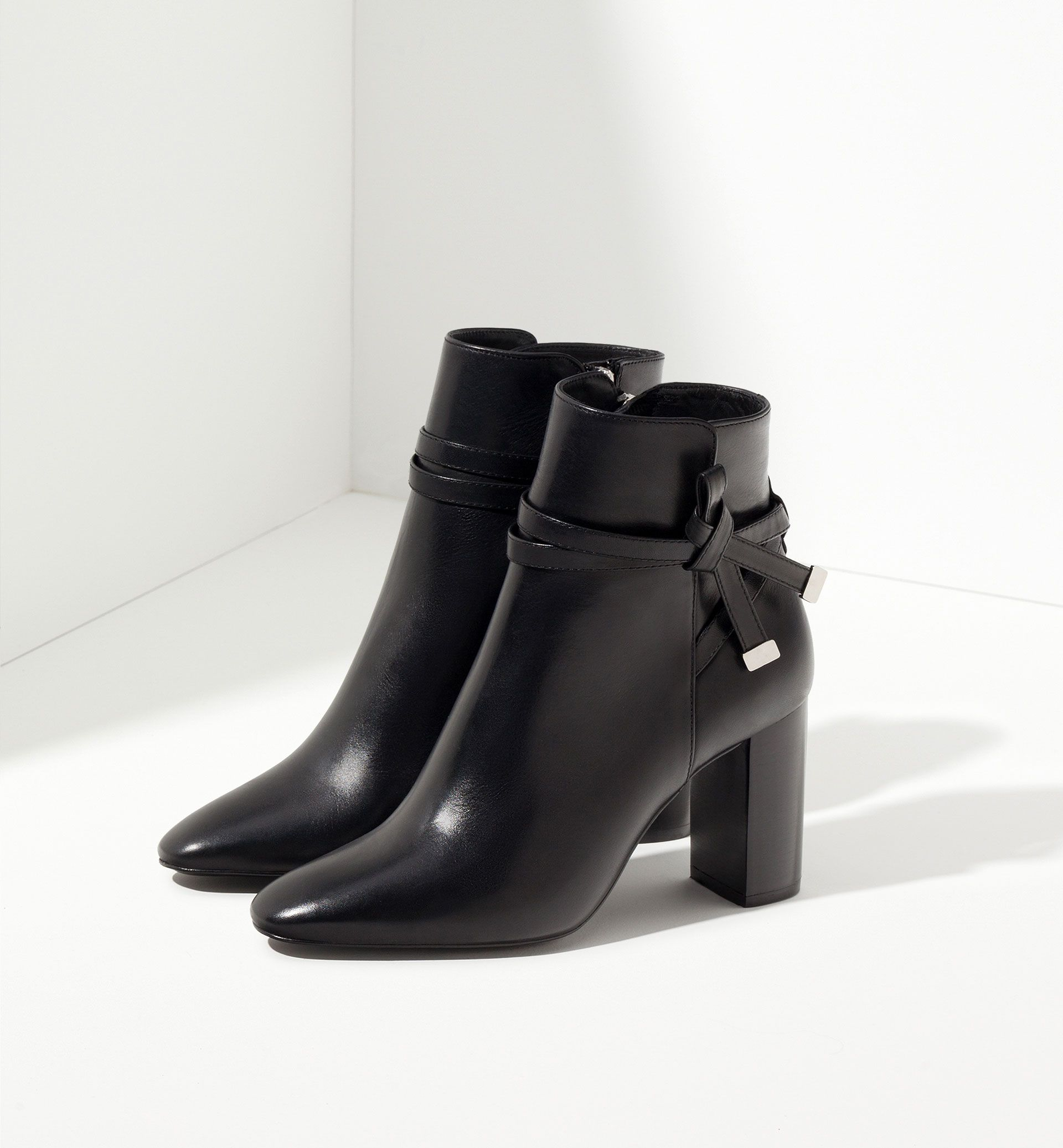 massimo dutti | high heel ankle boots