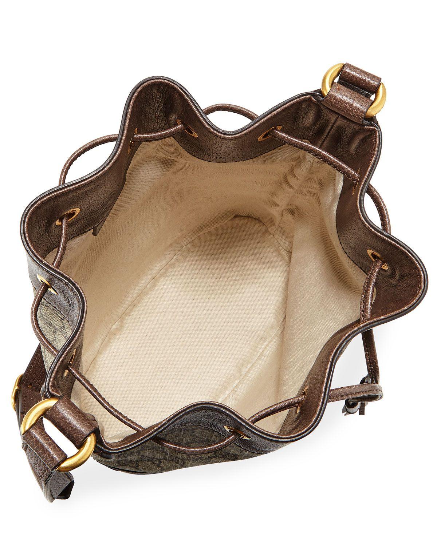 5ccf0a8da3e Gucci Ophidia GG Supreme Canvas Drawstring Bucket Bag