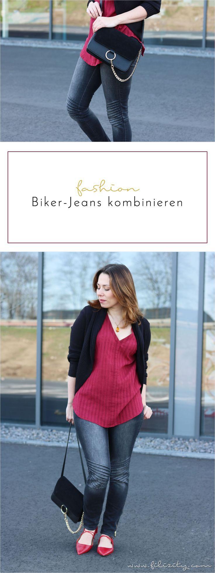 Biker Jeans kombinieren So stylt ihr die Trend Hose