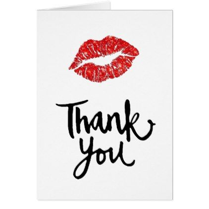 Thank You Script Red Lips Card Script Gifts Template Templates
