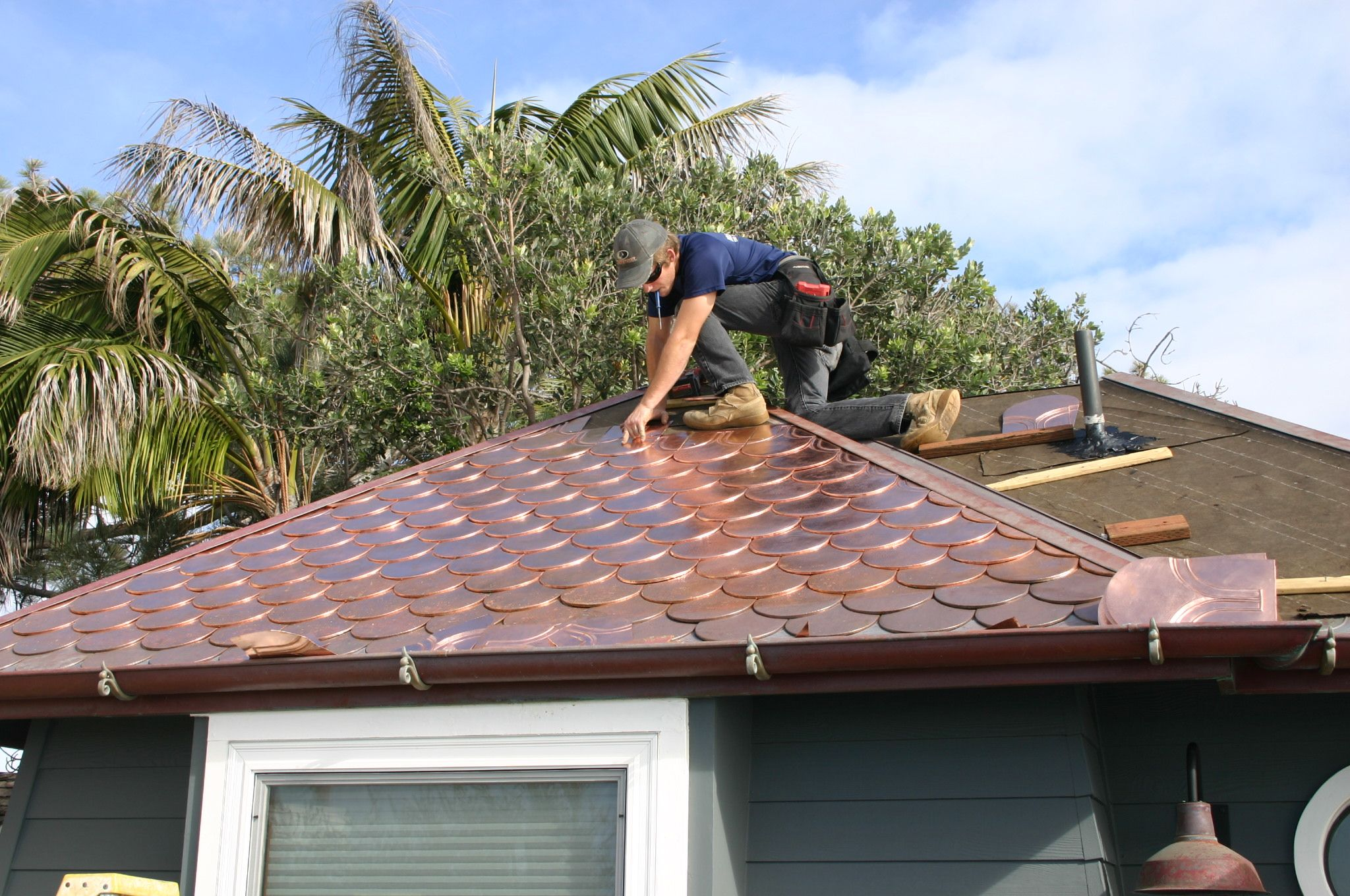 Copper Shingle Roof Roof Shingles Copper Awning Metal Roof