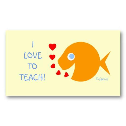 Assistant elementary teacher goldfish template business card card assistant elementary teacher goldfish template business card fbccfo Gallery