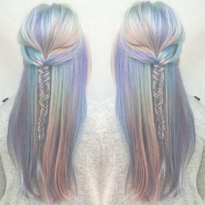 Meerjungfrau Haare Haarfarben Haarfarben Ideen Geflochtene Frisuren