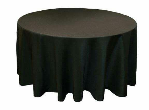 Black Polyester Tablecloth Dimensions 120 Round Item Tcf Tab 120 Blck F Available 15 In Stock Can Ge Black Tablecloth Wedding Table Linens Table Cloth