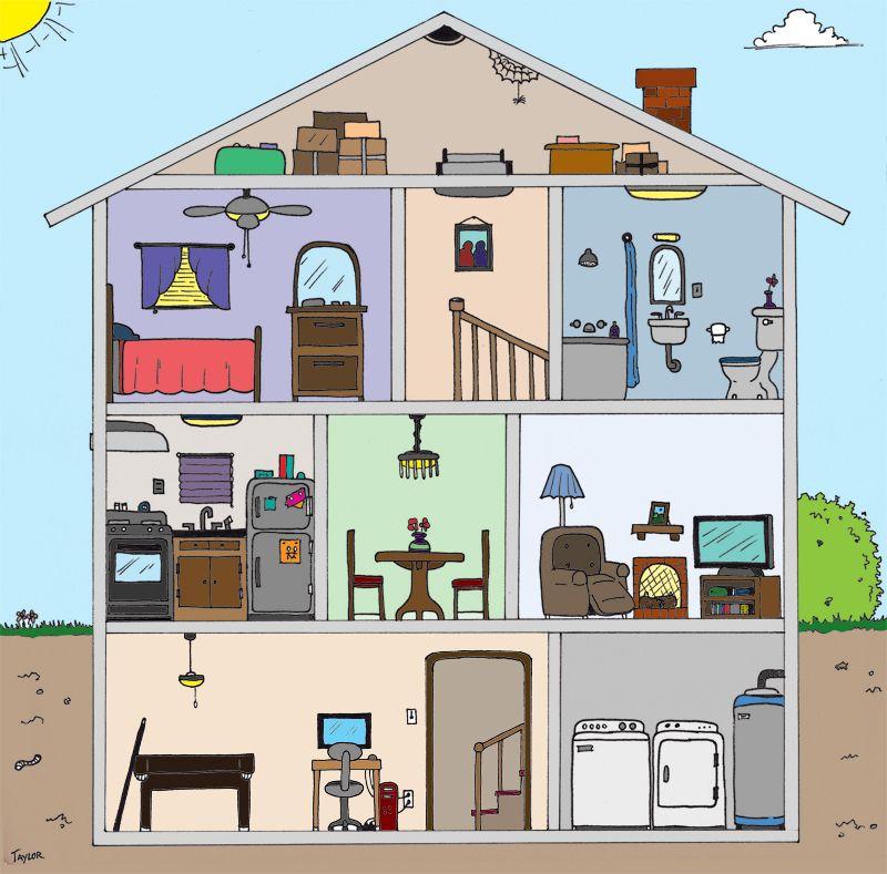 Sp La casa - House cutaway by Leslie