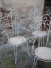 Tavoli Da Giardino Vintage.N 4 Sedie Da Giardino In Ferro Design Vintage Anni 50 60