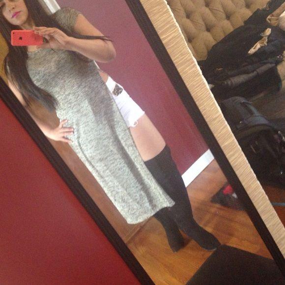 Slit tunic/shirt Long short sleeves top/dress with side slits. Love j Dresses Maxi
