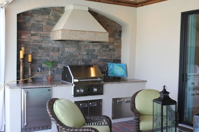 Lennar Homes Isabella Model Outdoor Kitchen Twin Eagles Naples Fl Outdoor Kitchen Home Built In Grill