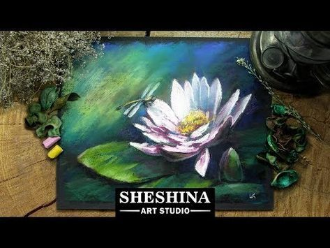 How To Draw A Lotus Flower With Soft Pastels Flowers Youtube