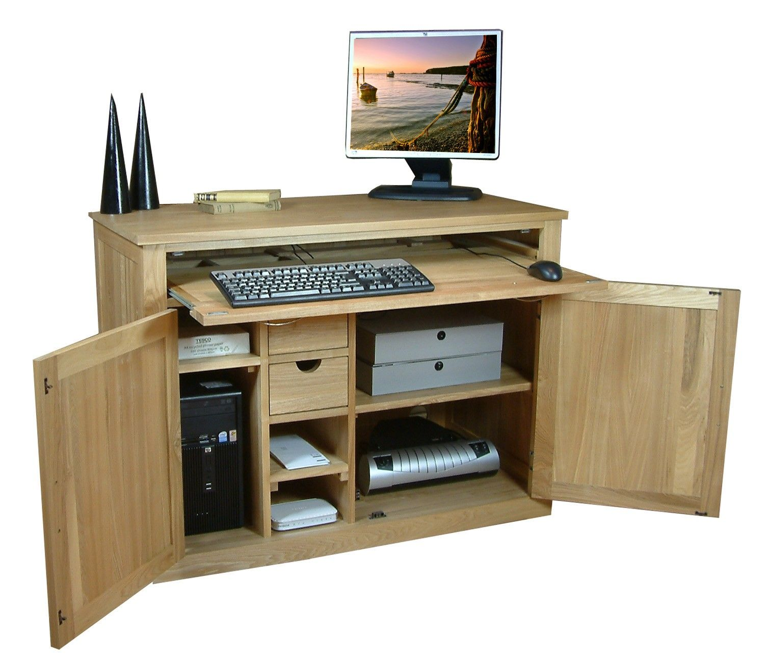 Computer Desk That Conciels Everything For The Home