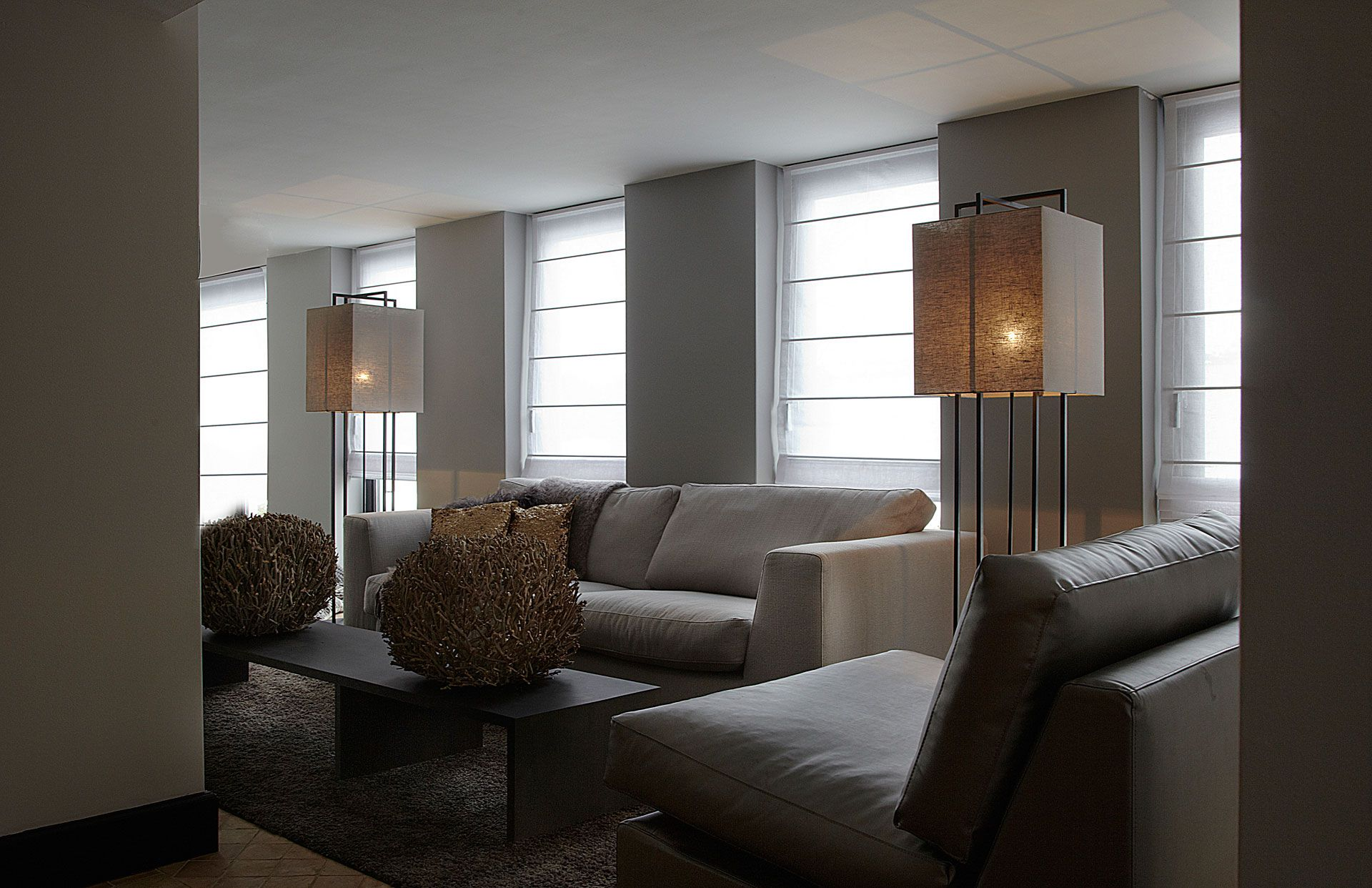 contemporary neutral living room | Hillegersberg Rotterdam Living ...