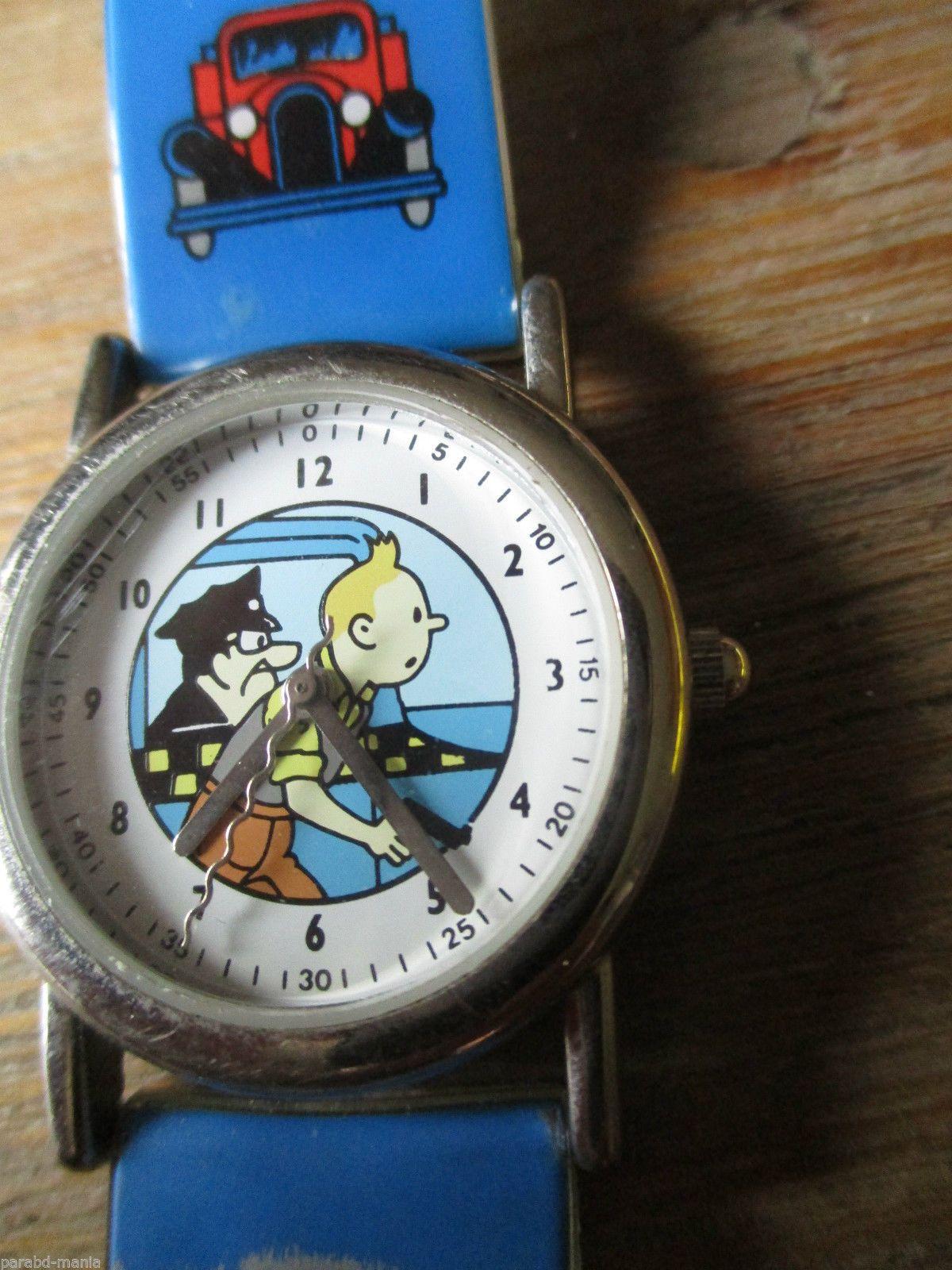 1e9004c1ab5 Hergé Citime Tintin Ancienne montre Tintin en Amèrique