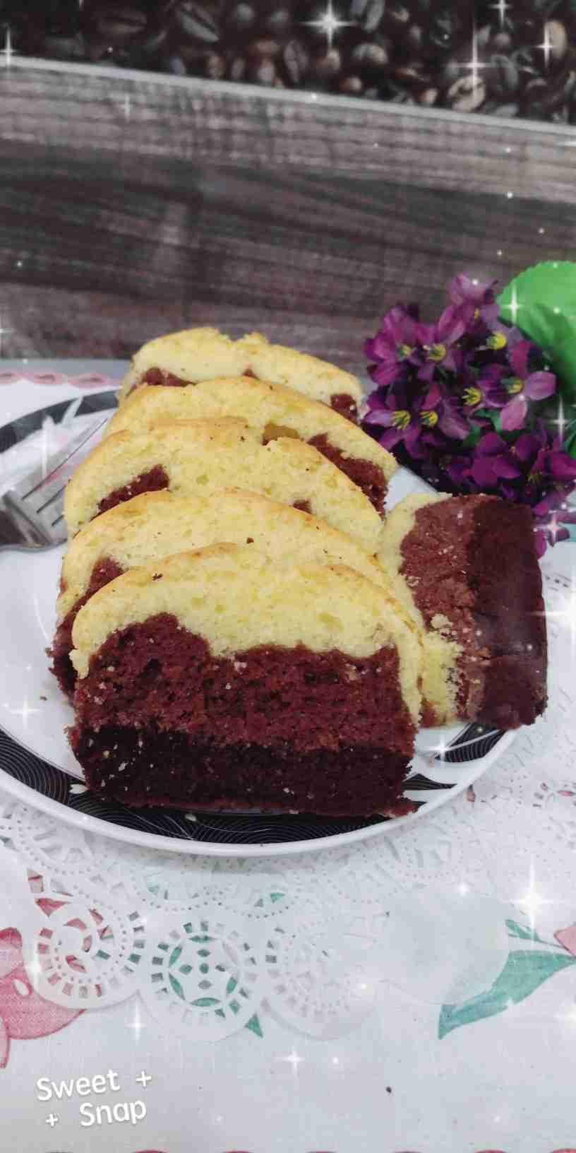 كيك الزبدة بنكهة الفانيلا بثلاث الوان زاكي Recipe Food Desserts Brownie