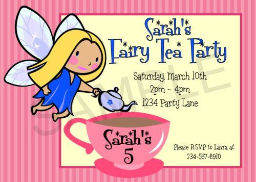 DIY tea party games and creative ideas to set your little girls - birthday invitation letter sample