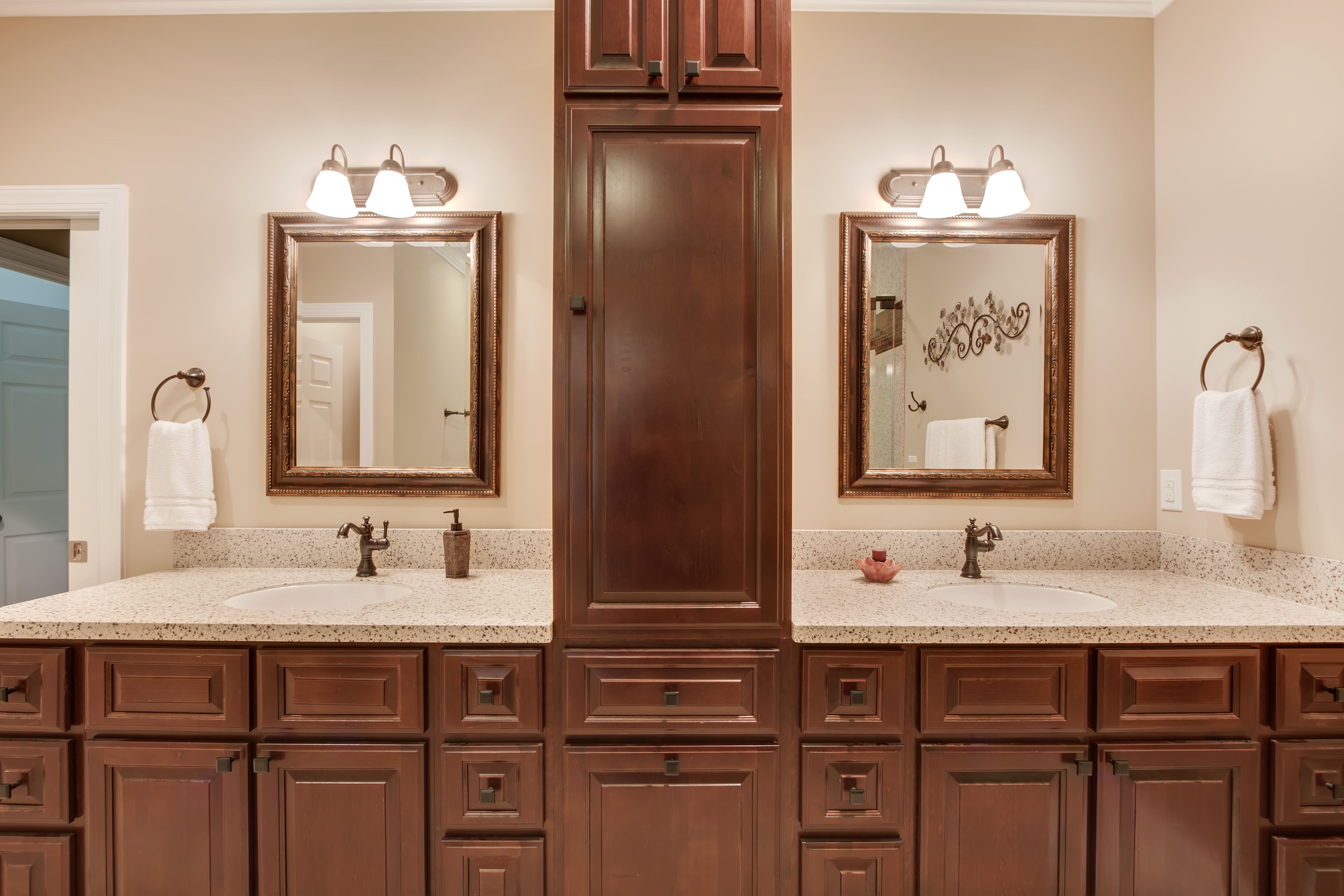 Bathroom Transformation Done By Granite Transformations Featuring A New Counter Top Bathroom Transformation Granite Vanity Countertops Countertops