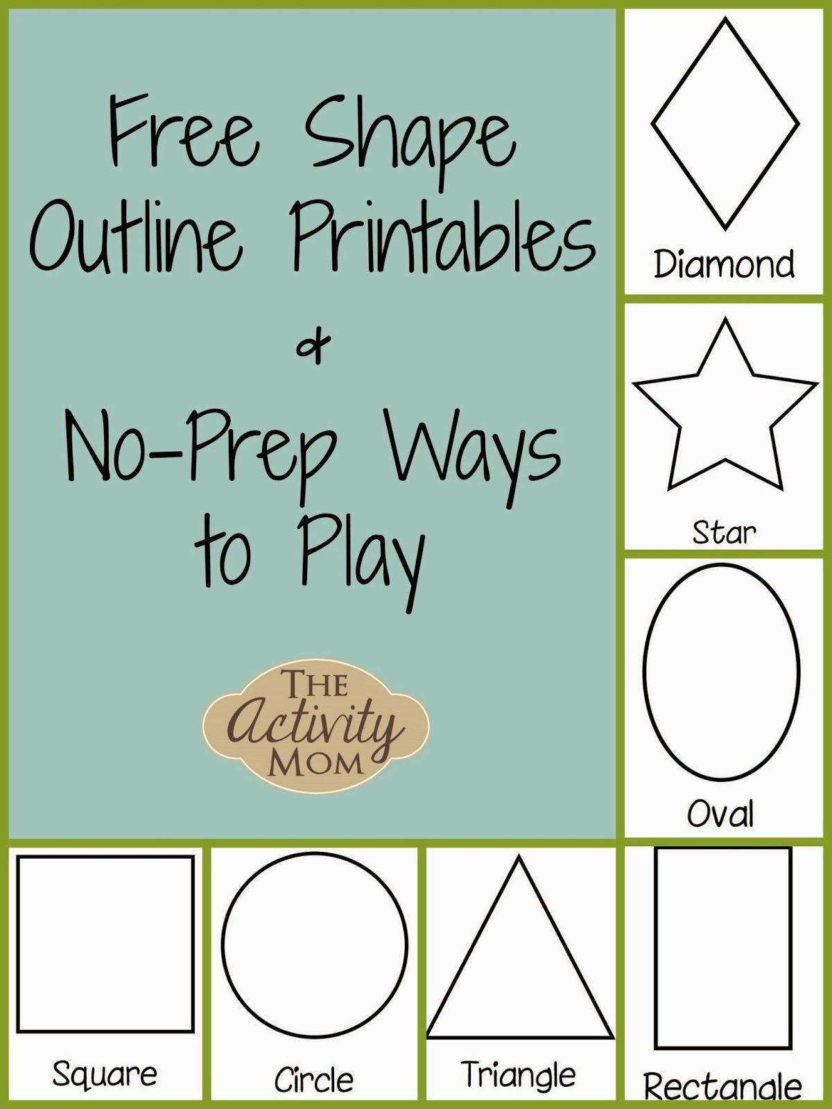 Shape Activities for Toddlers (printable | Pinterest | Activities ...