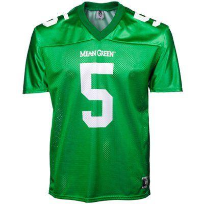 pretty nice 8a4e6 b9a71 North Texas Mean Green #5 Replica Football Jersey - Green ...