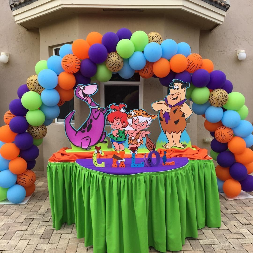 #ChloeIsOne #Chloe1stBday #Flintstones #FlintstonesThemed