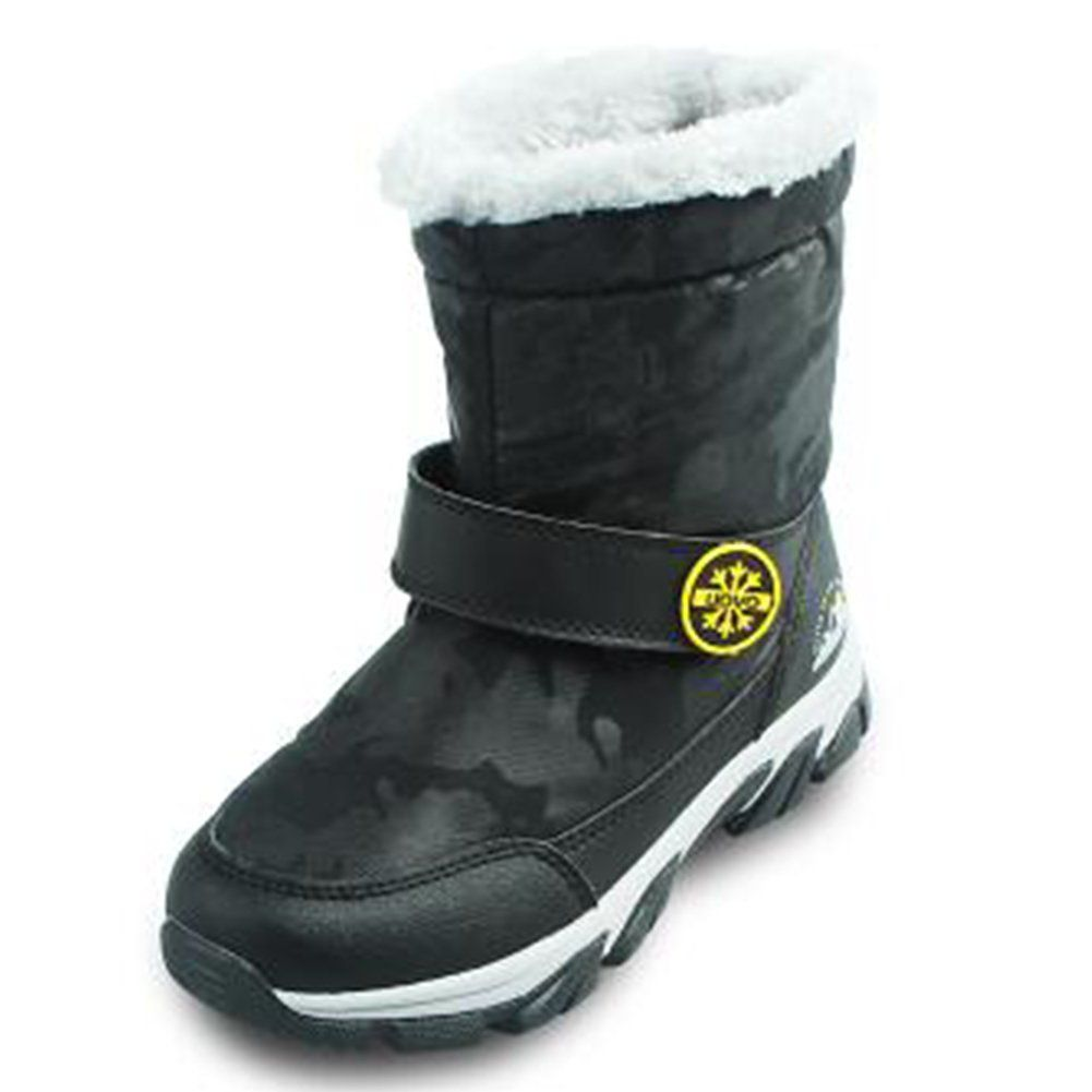 BD Girl Boy Waterproof Mid-calf Winter Snow Boots Warm Shoes ...
