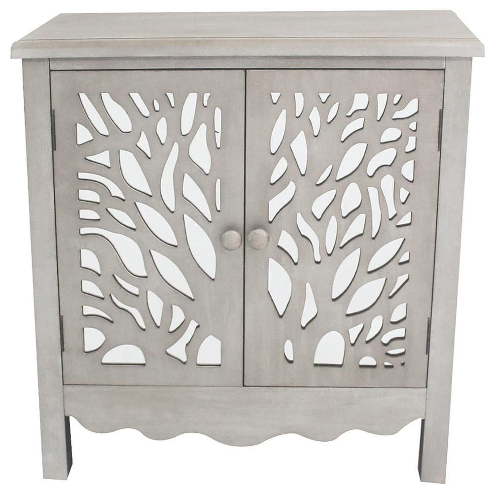 Best River Of Goods Grey Willow Tree Cabinet With Two Doors 400 x 300