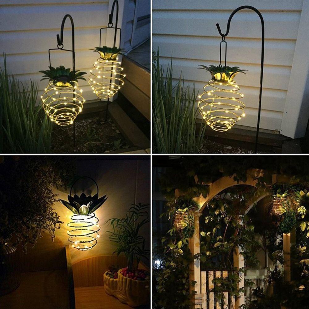 Waterproof Hanging Solar Lanterns Pineapple Solar Garden Lamp