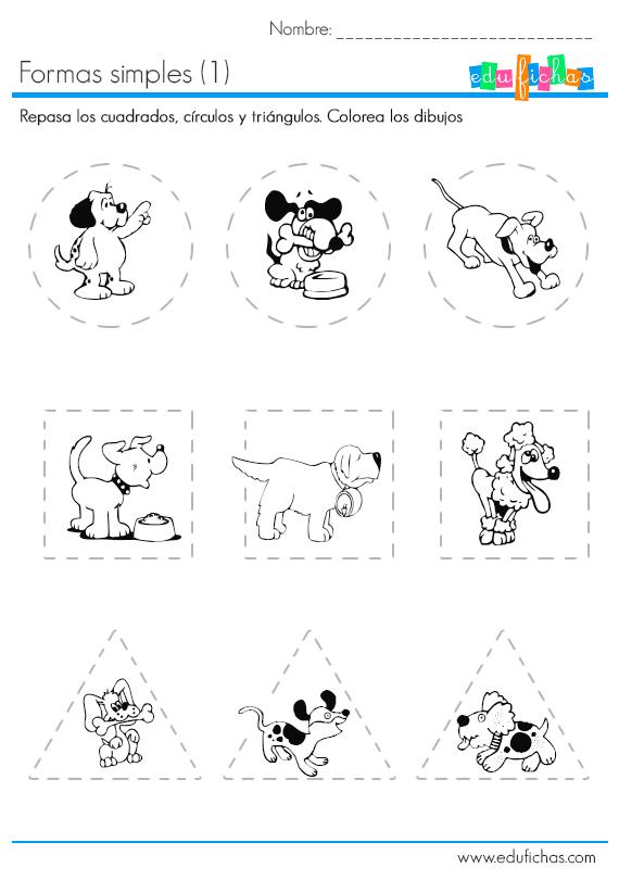 formas geometricas | worksheet | Pinterest | Actividades infantiles ...
