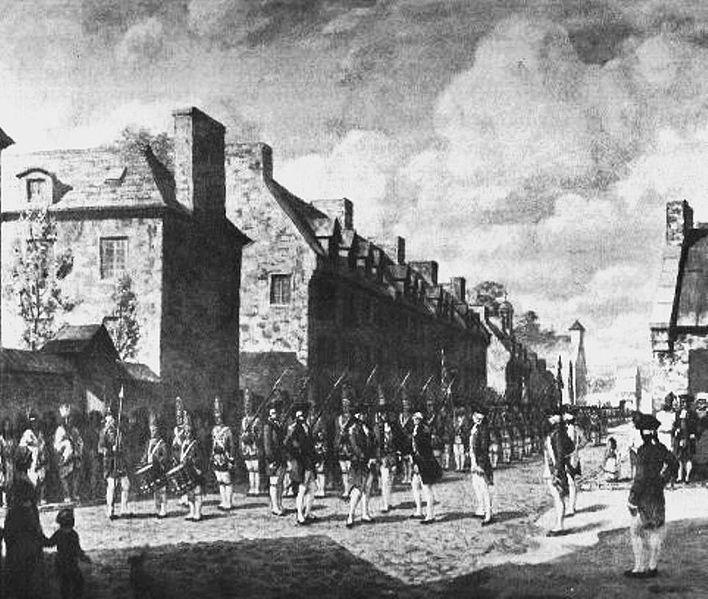 1760-Rédition de la Nouvelle France aux Britanniques le 8 sept 1760-Montréal